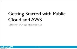 CIW Lab with CoheisveFT: Get started in public cloud - Part 2 Hands On