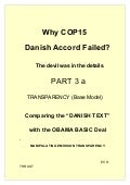 Cop15 Failure Analysis PART 3a Transparency, Base Model