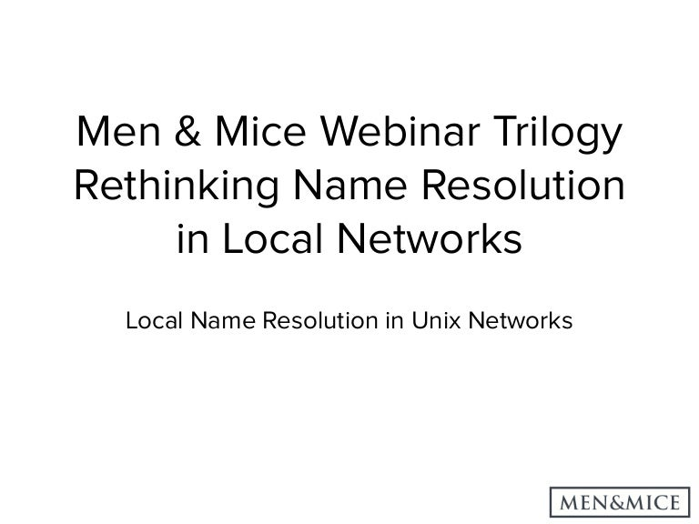 Part 3 - Local Name Resolution in Linux, FreeBSD and macOS/iOS