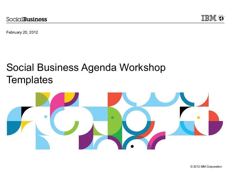 ibm social business agenda template, Presentation templates