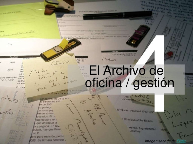 El archivo de oficina / gestión