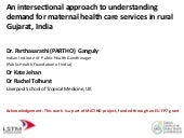 Parthasarathi Ganguly, An intersectional approach to understanding demand for maternal health care services in rural Gujarat, India