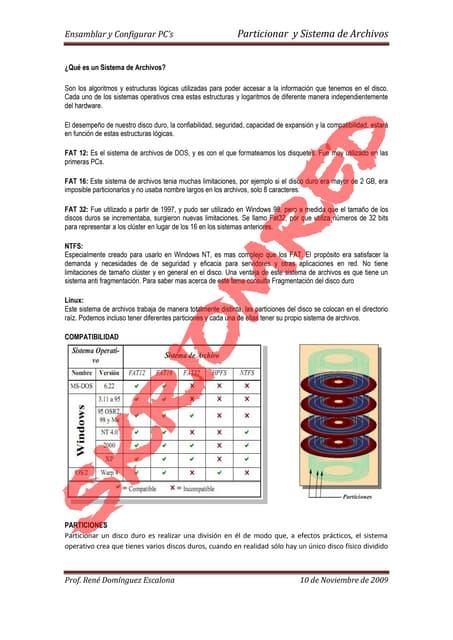 Particionar y sistema de archivos