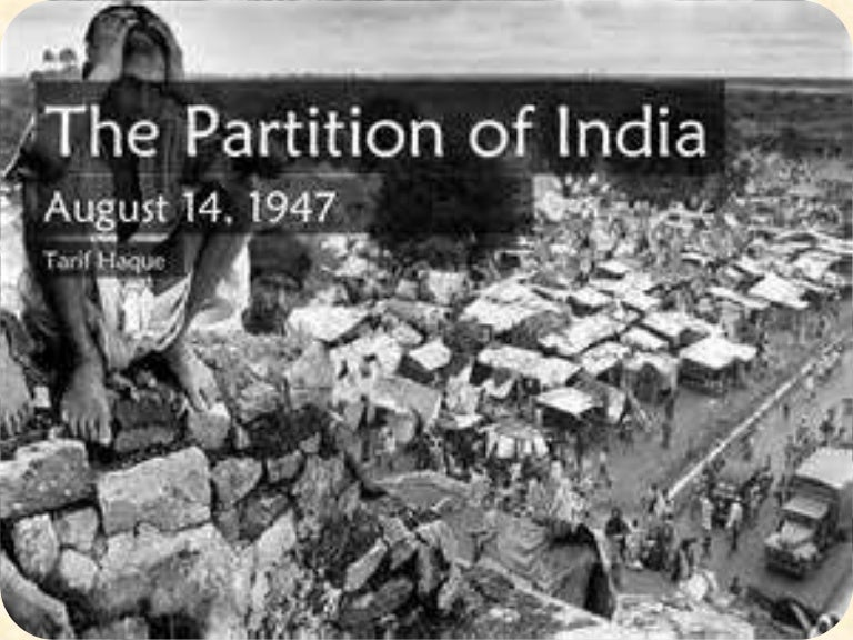 Partition of india final ppt