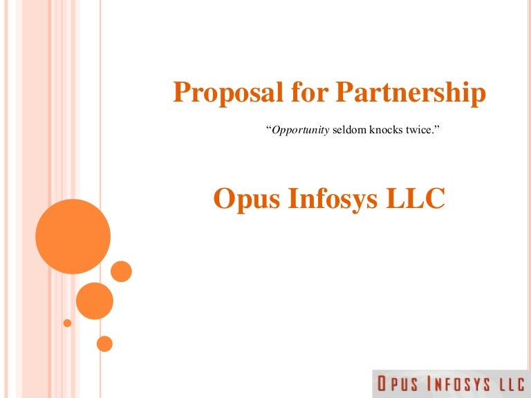 Partnership Proposal