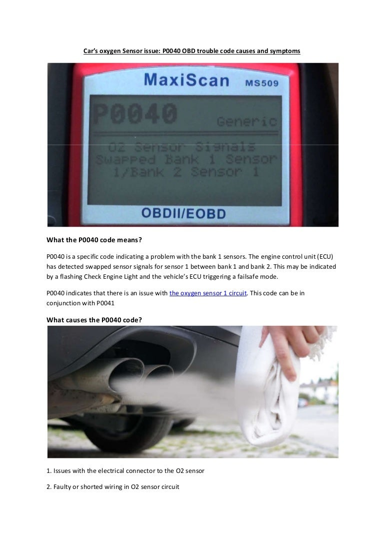 Partsavatar Car Parts Canada Cars Oxygen Sensor Issue P0040 Obd T Wiring Harness Symptoms