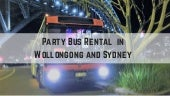 Party Bus Rental in Wollongong and Sydney