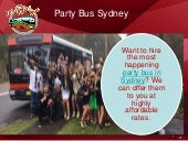 Hire a Party Bus in Sydney