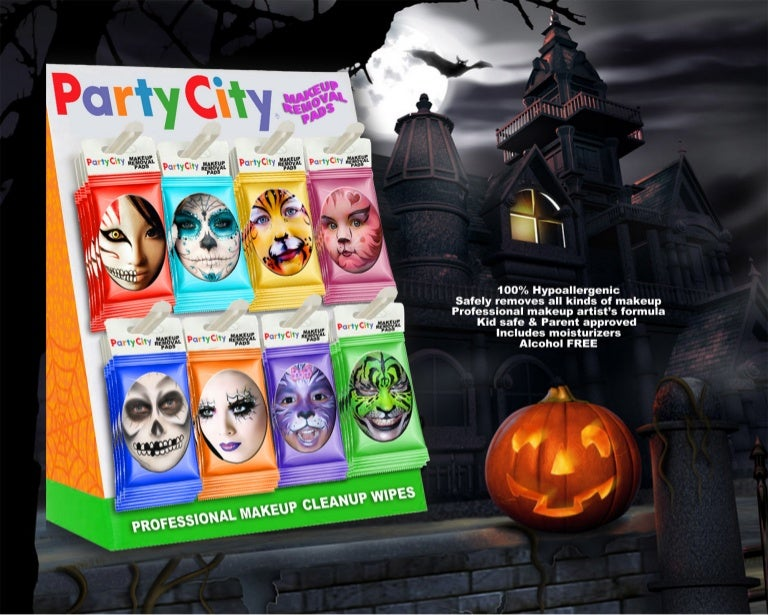 Party City Halloween Makeup Remover Wipes
