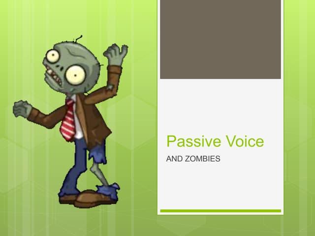 Passive voice quick presentation