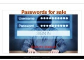 Passwords for sale