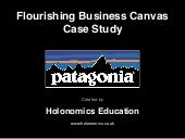 Flourishing Business Canvas - Patagonia Case Study