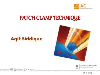 Patch Clamp Technique By Aqif Siddique