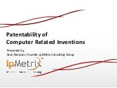 Patentability of Computer Related Inventions (CRIs) in India