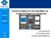 Patentability of graphical user interface designs
