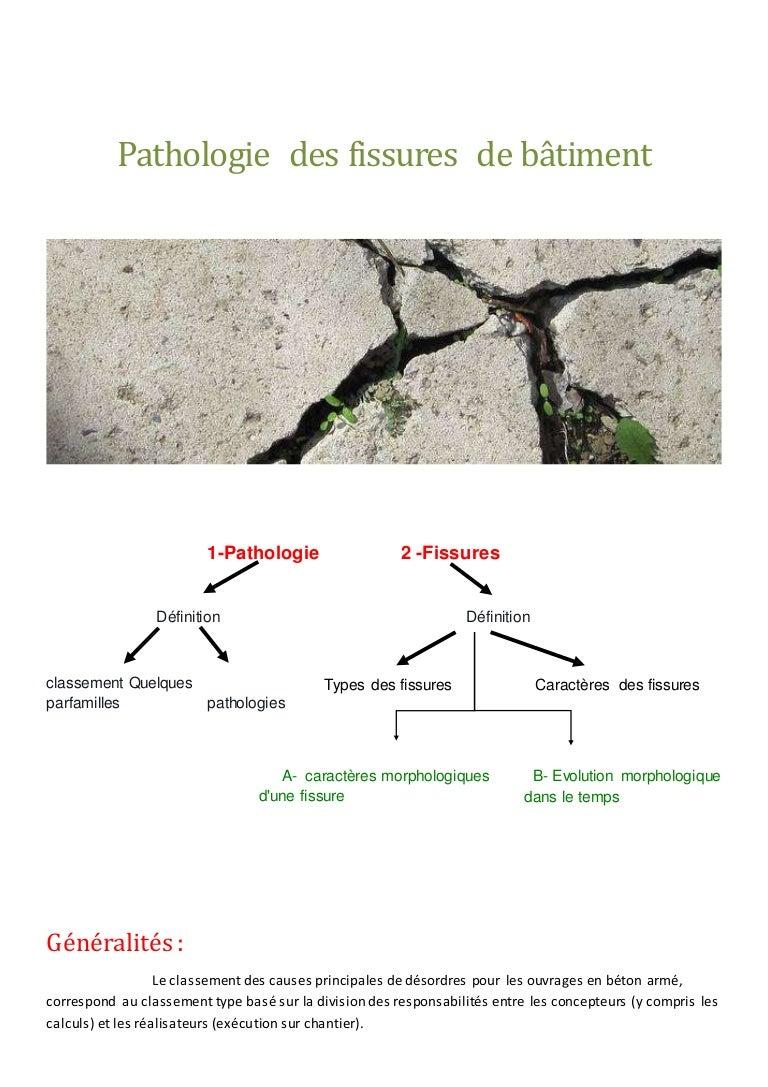 pathologie des-fissures-de-bâtiment
