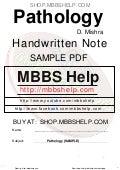 Pathology Handwritten Note Sample