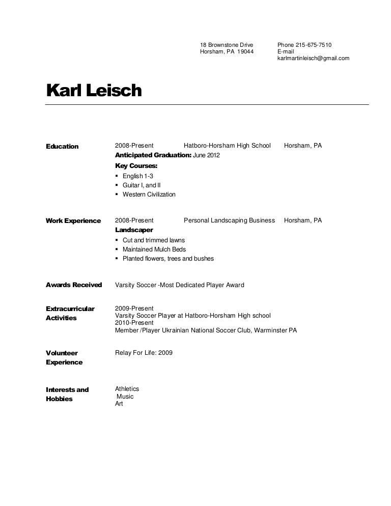 copies of resume