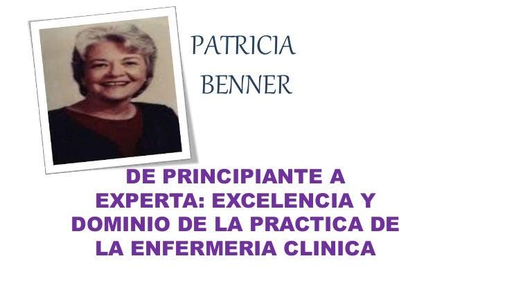 Patricia Benner Modelos y teorías en enfermería