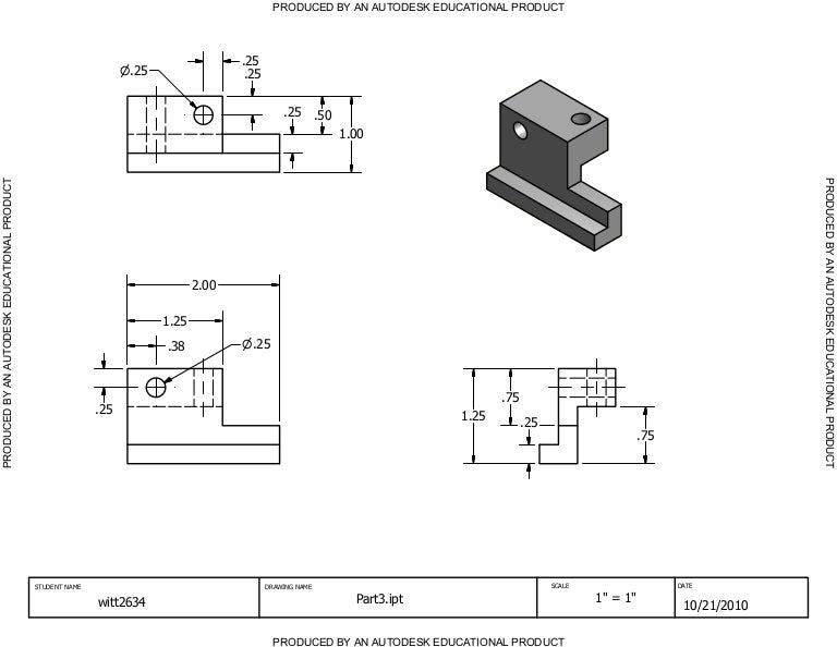 Inventor Drawing Assignment