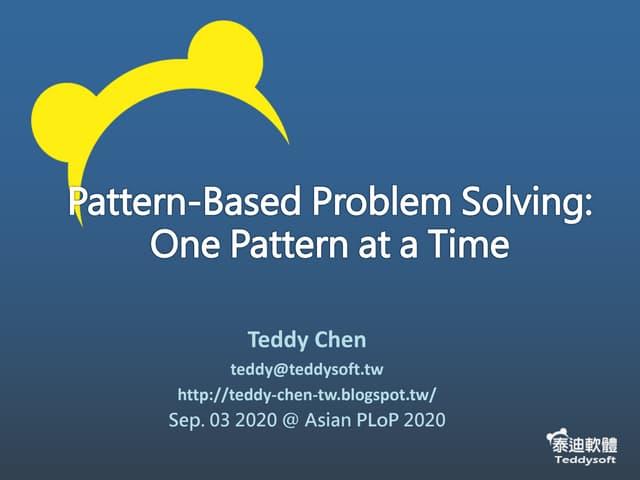 Pattern based problem solving-published