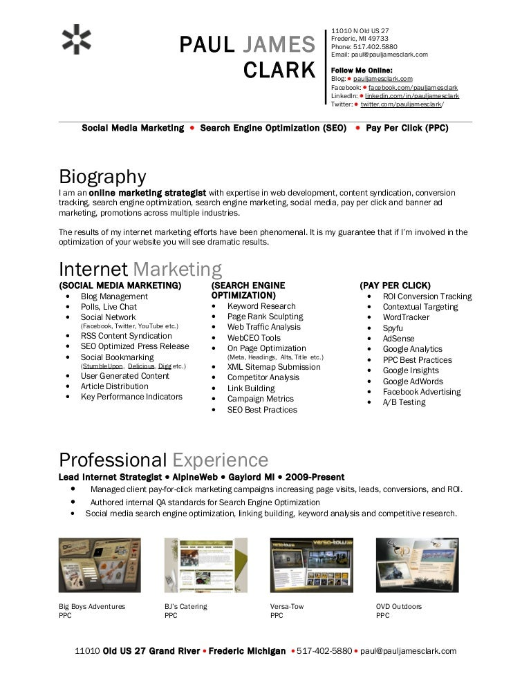Paul Clark Social Media Resume  Phpapp