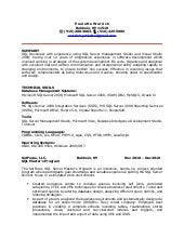 sql ssis ssrs developer resume