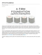 A Firm Foundation by Paul McCart