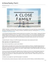 A Close Family - Part 3