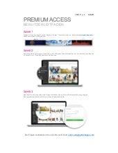 Premium Access Quick Start Guide