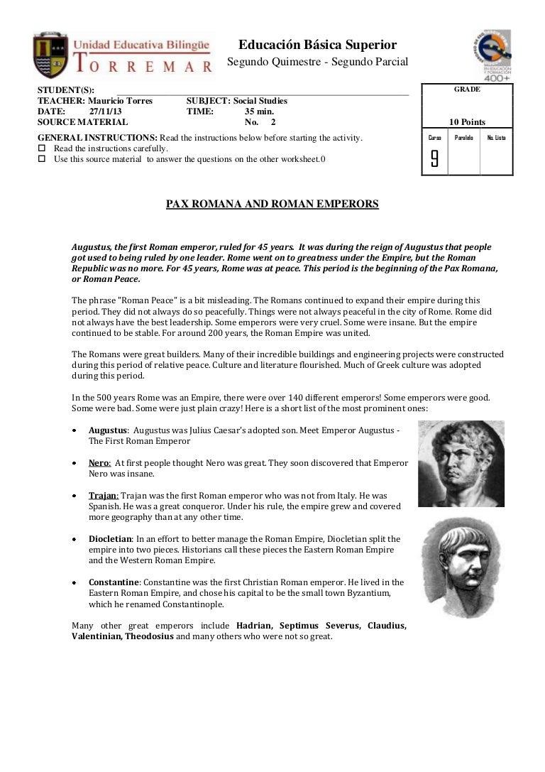 worksheet Engineering An Empire Worksheet romana source pax source