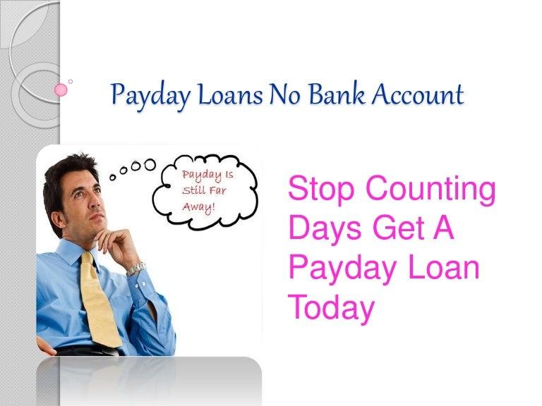 payday loan no checking account