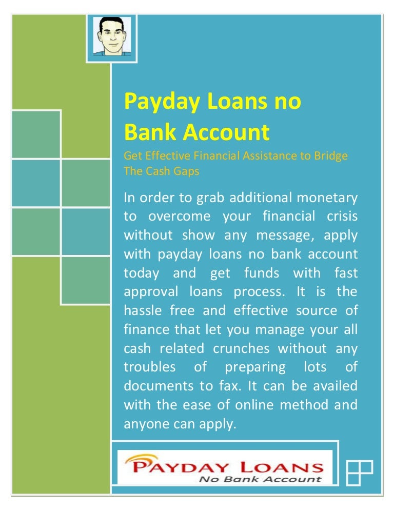 no bank account loans