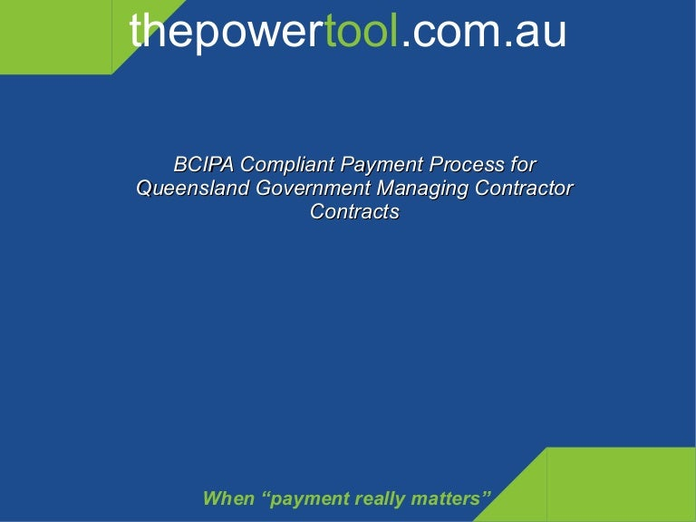 Payment claim process for large contracts