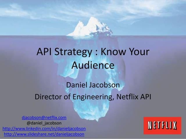 Netflix API - Presentation to PayPal