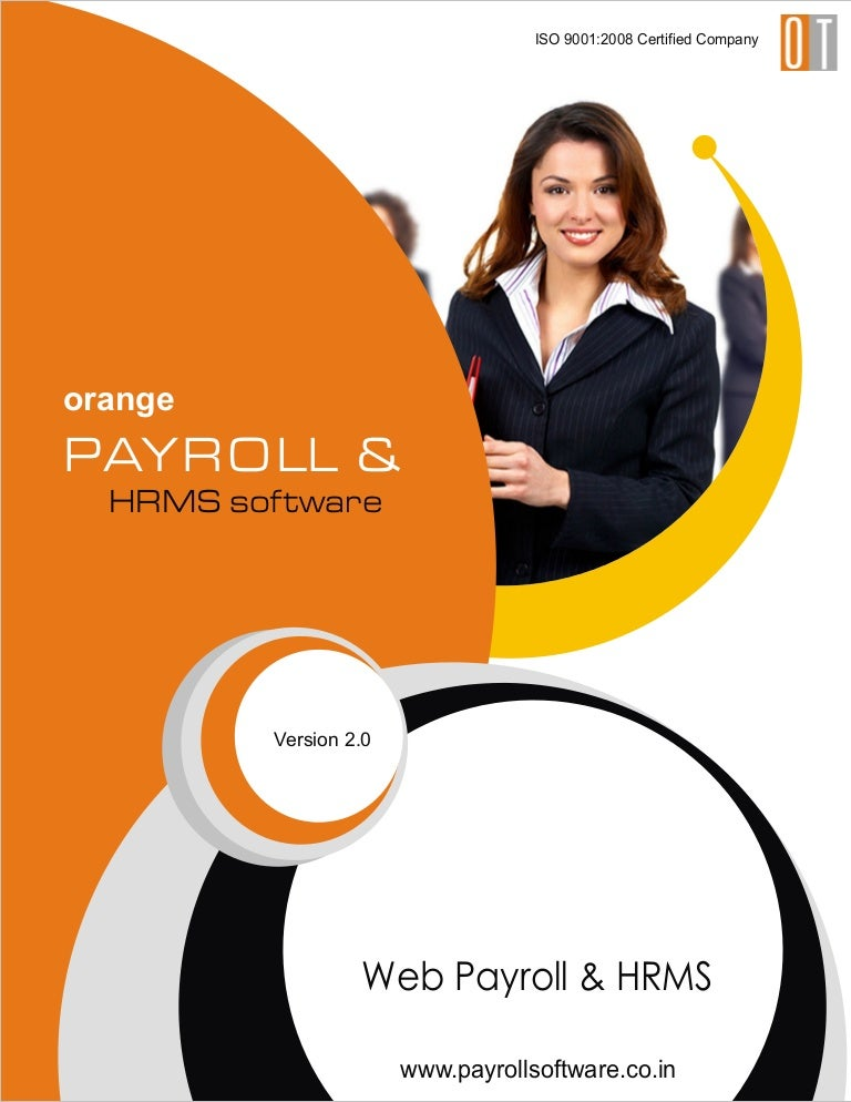 payroll online hrms brochure india