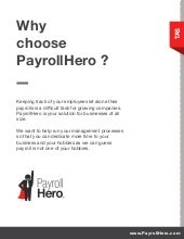 PayrollHero Time, Attendance, Scheduling, Analytics and HRIS Features