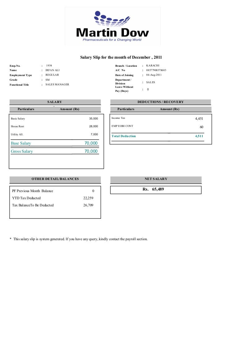 Monthly Pay Slip INDIAN ENGINEERING Pay Slip Salary Slip – Example Payslip