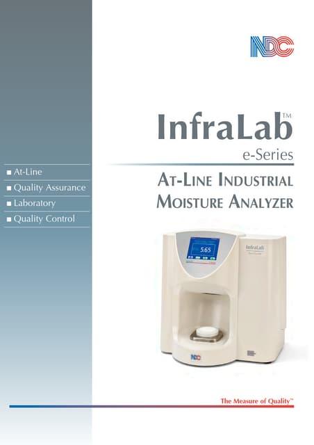 """Infralab Medidor """"at line"""" de humedad para procesos industriales"""