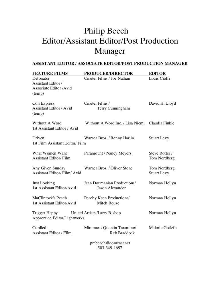 pb editor resume
