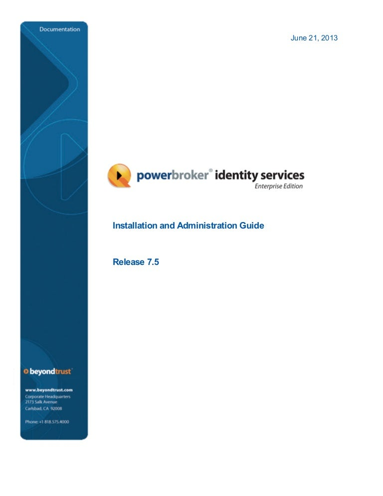 PBISE : Installation and Administration Guide v7 5