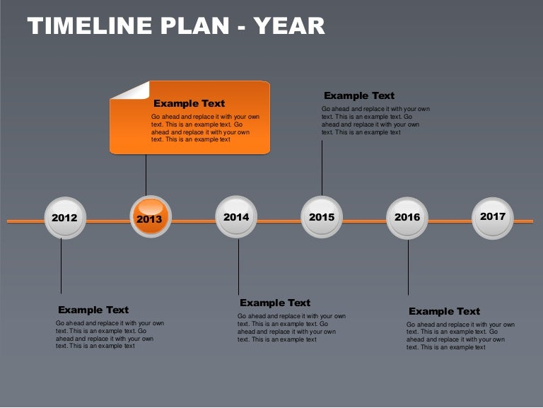 timeline plan year free powerpoint charts