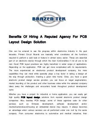 Pcb layout design house