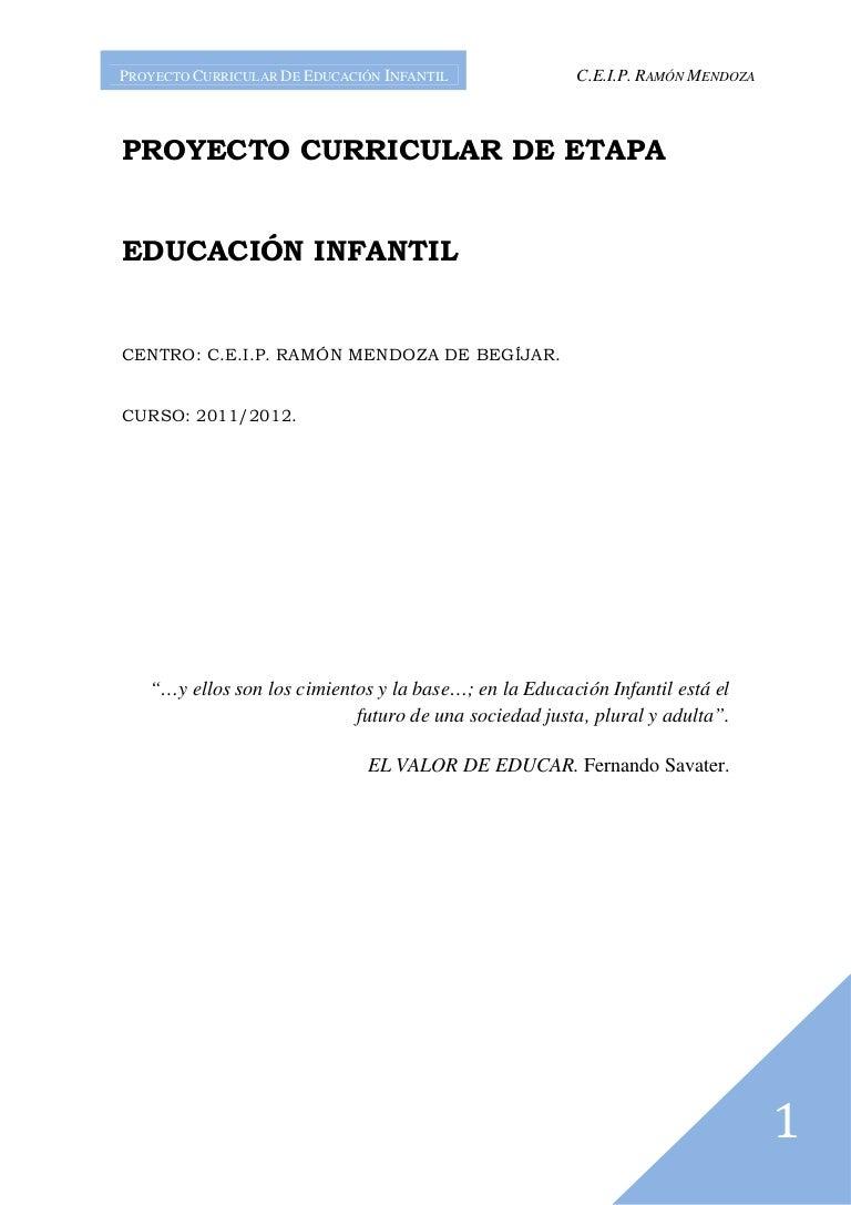 Proyecto Curricular de Infantil