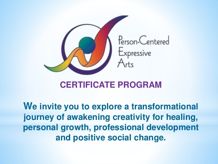 Person Centered Expressive Arts Training Program