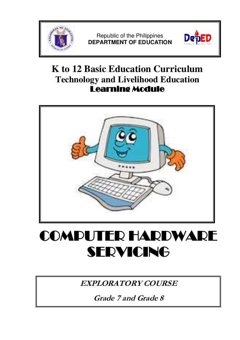 K To 12 Pc Hardware Servicing Learning Module Basic Motherboard Diagram With Labels How Fix Computer And