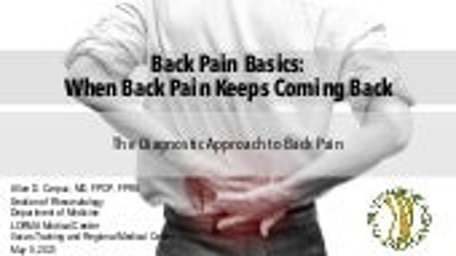 PCP AC 2021 - Back Pain Basics