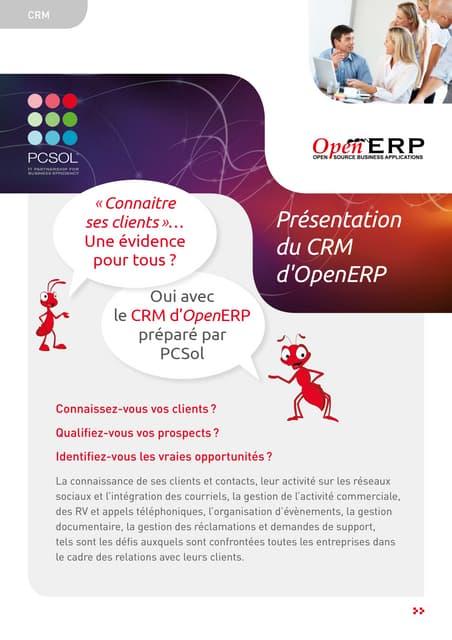 CRM OpenERP by PCSol: Brochure descriptive