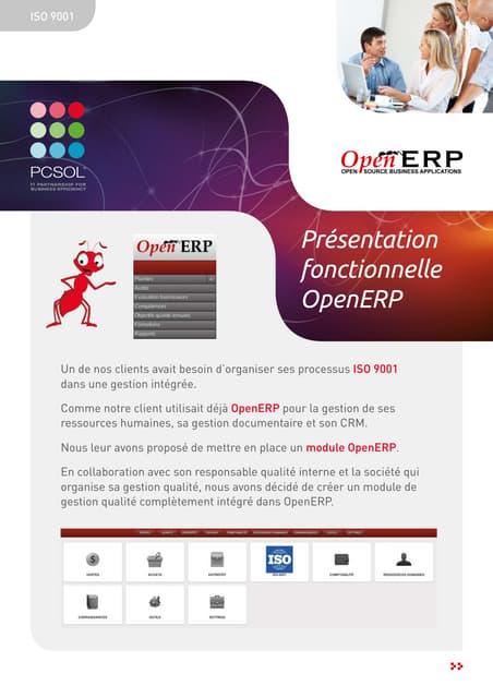 Le module ISO 9001 pour OpenERP