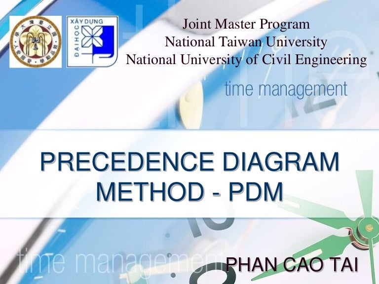 PDM - Precedence Diagram Method